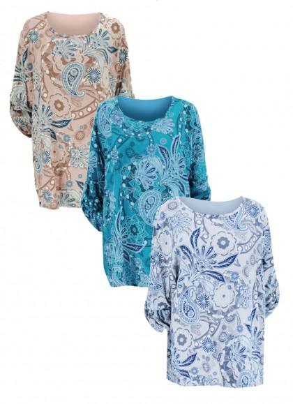 Bluza dama marime mare lejera cu imprimeu floral