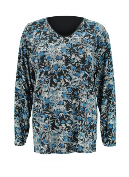 Bluza dama marime mare cu imprimeu floral