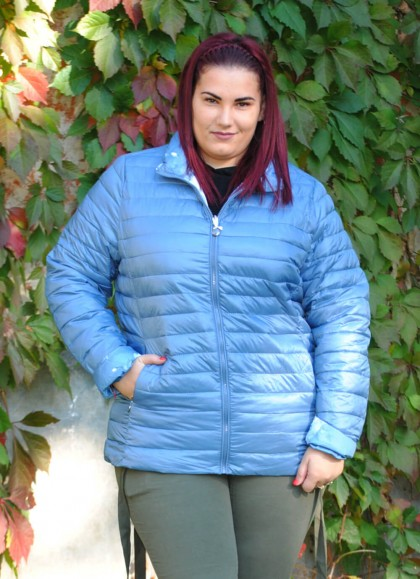 Jacheta dama fas albastru deschis marime mare