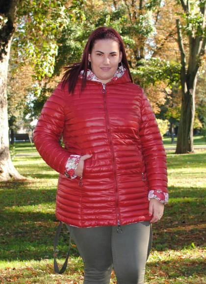 Jacheta dama fas cu doua fete rosie