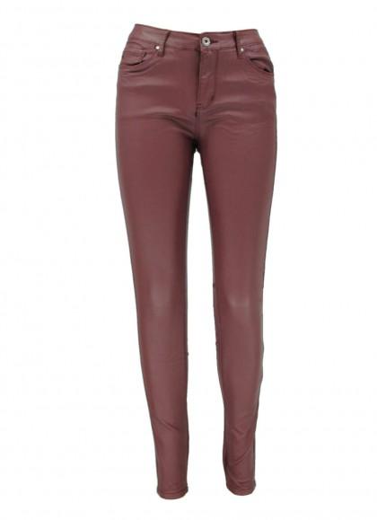 Pantaloni visinii din piele ecologica