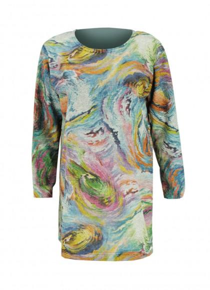 Bluza dama marime mare multicolor