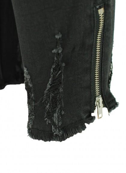Blugi dama Re-Dress negru prespalat elastic