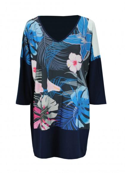 Bluza marime mare cu motiv floral