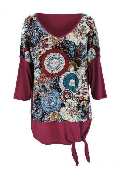 Bluza marime mare cu imprimeu original
