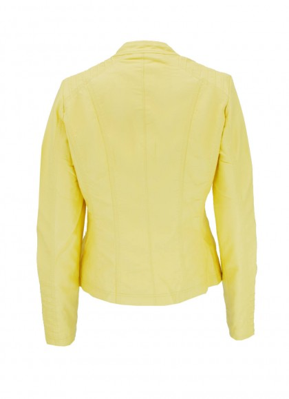 Jacheta dama din piele ecologica galbena Honey Winter