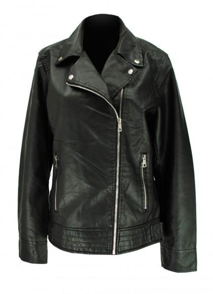 Jacheta din piele ecologica marime mare neagra