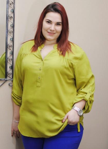 Camasa dama marime mare culoare verde