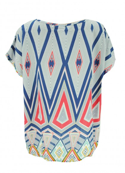Bluza dama marime mare cu imprimeu abstract