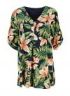 Bluza dama marime mare cu imprimeu floral de primavara