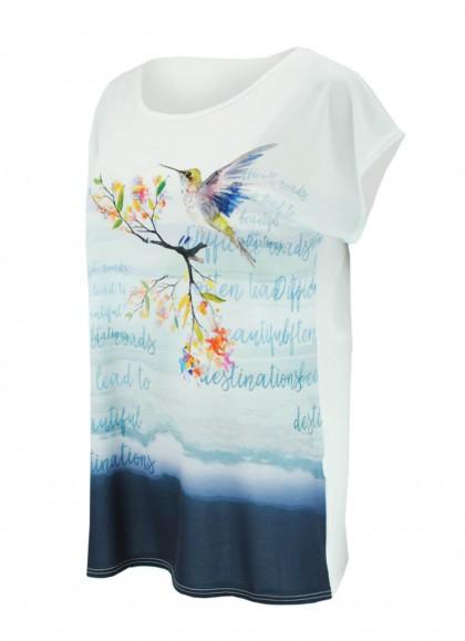 Tricou dama cu imprimeu colibri