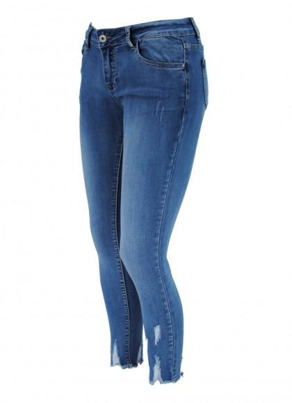 Blugi Re-Dress albastrii slim