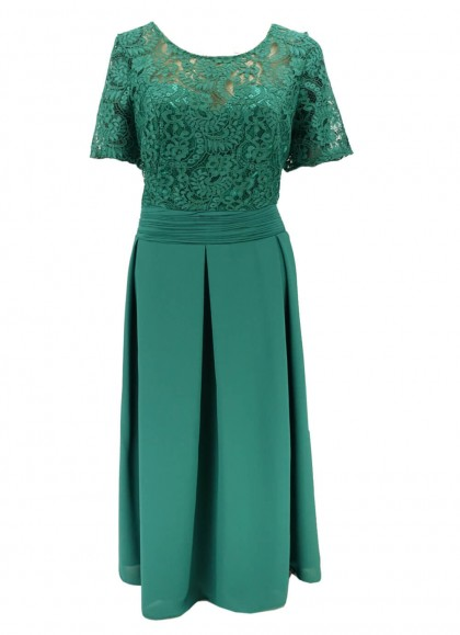 Rochie verde cu dantala marime mare