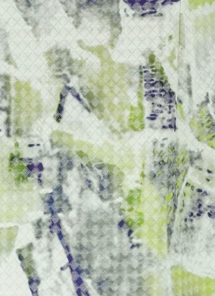 Rochie alba cu imprimeu modern