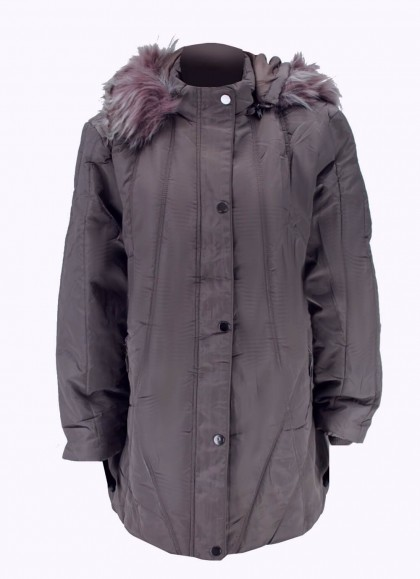 Jacheta dama fas plus size de iarna model lung