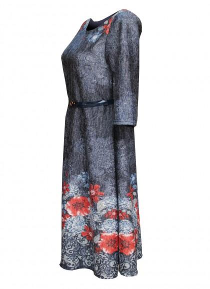 Rochie marime mare cu motiv floral
