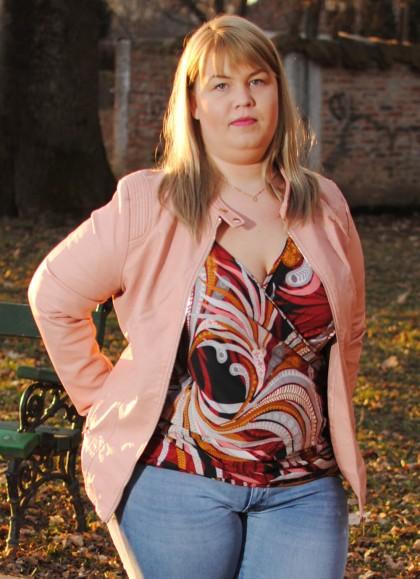 Geaca dama din piele ecologica roz marme mare